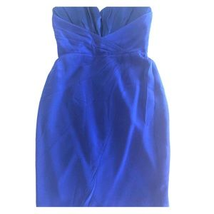 Jay Godfrey silk strapless dress